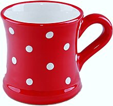 UNGARNIKAT Keramik Becher/Kaffeebecher rot mit