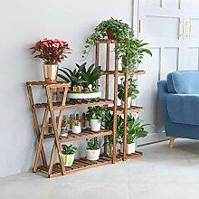 unho Blumenregal Pflanzenregal aus Holz, 8 Ebenen,