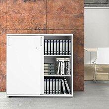 Uni Aktenschrank 1,2M abschließbar 3OH Weiß