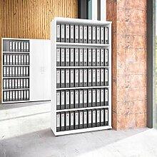 Uni Aktenschrank 5 OH Weiß Schrank Büroschrank