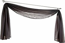 Uni Farbe Voile Freihandbogen Schals Querbehang