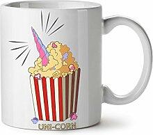 Uni Mais Popcorn Weiß Tee Kaffee Keramisch Becher 11 oz   Wellcoda