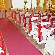 Uni Pink–Hochzeit Gang Teppich Läufer, L: 42ft (12.8m) x W: 120cm