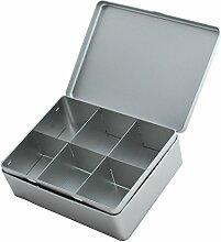 Uni Silber geteilt Tee Caddy/Küche