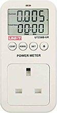 Uni-T ut230b Wattmeter Belastbarkeitstester Spannung Strom Tester Kosten Frequenz Power Meter Energie Factor Monitor CO2Emission Detektor