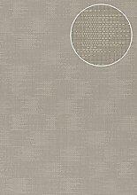 Uni Tapete Atlas COL-994-2 Vliestapete strukturiert mit Struktur matt grau grau-beige 5,33 m2