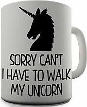 Unicorn Ausrede, Geschenkidee, witziges Design, für Tee, Kaffee, Tasse Office