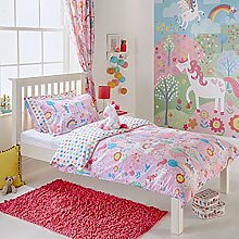 Unicorn Einhorn Mädchen, Bettbezug und