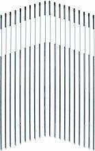 UniEco Schneeleitstab aus fiberglas Gartenzaun Wildwarnreflektor mit Reflexionsfolie7.9mm 90cm 20pack