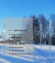 UniEco Schneeleitstab aus fiberglas Gartenzaun Wildwarnreflektor mit Reflexionsfolie6.35mm 90cm 20pack