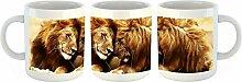 Unified Distribution Kuschelnde Löwen wie Ölbild