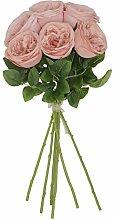 UnikLove Künstliche Seidenkraut-Rose, Seide,