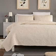 Unimall Tagesdecke Baumwolle Beige Bettüberwurf