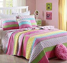 Unimall Tagesdecke Baumwolle Bettüberwurf Rosa