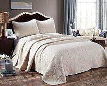 Unimall Tagesdecke Baumwolle Bettüberwurf Set