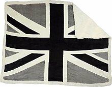 UNION JACK-FLAGGE SCHWARZ WEIß KUNST SCHAFSHAUT