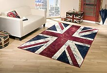 Union Jack Vintage Teppich Flagge UK (160x230 cm)
