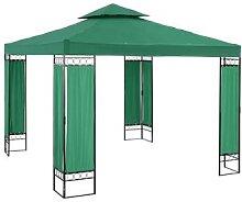 Uniprodo Gartenpavillon - 3 x 3 m - 160 g/m² -