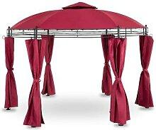 Uniprodo Gartenpavillon rund - 3,5 m - 180 g/m² -