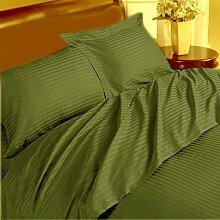 Unique 4-teiliges Tabelle Marke New 350TC Moos Streifen Kaiser 100% ägyptische Baumwolle extra tief Tasche (18Zoll)–von TRP Blatt–B14