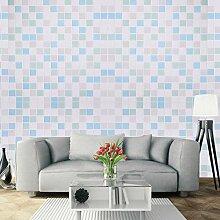 UNIQUEBELLA 3D Mosaik Tapeten Wanddeko Design Tapete Wandtapete Wand Dekoration für Wohnzimmer Kinderzimmer Schlafzimmer Küchen Hotel Gelb