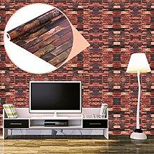 UNIQUEBELLA 3D Steinoptik Tapeten Wanddeko Design Tapete Wandtapete Wand Dekoration für Wohnzimmer Kinderzimmer Schlafzimmer Küchen Hotel Ro