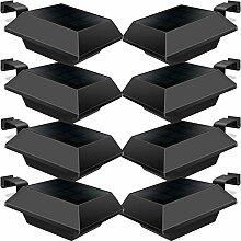 Uniquefire Solarlampe 12 LEDs Dachrinnen