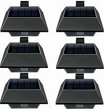 Uniquefire Solarlampe 6 LEDs Dachrinnen