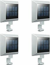 Uniquefire Weiße Solarlampe 6 LEDs Dachrinnen
