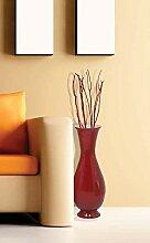 Uniquewise QI003592.S Vase, handgefertigt, Bambus,