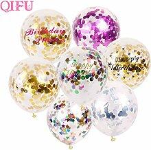 Uniqus QIFU 10 Stück 30,5 cm Konfetti-Luftballon