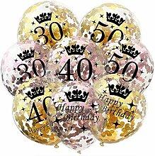 Uniqus S1YN Luftballon Geburtstag 50 40 30 Jahre