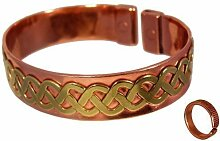 Unisex Magnetisches Kupfer Armband Messing