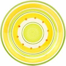 Unitable Dessertteller Cefalu - Grün, Gelb &