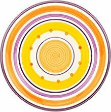 Unitable Dessertteller Cefalu - Violett, Orange &
