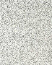Unitapete EDEM 202-40 Einfarbig Dekorative Vinyl-Schaum-Tapete weiß rauhfaser putz optik | 7,95 qm - 15 meter