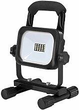 Unitec LED Strahler Akku 10W, 800lm, Schwarz