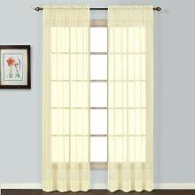 United Vorhang Batist leicht durchsichtigen Fenster Vorhang Panel, 54von 63-inch, gelb