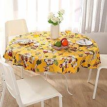 UniTendo Leinen-Baumwoll-Tischdecke/Tischdecke im