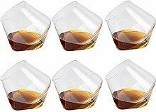 Unityoung 6er Pack 400ml Weinglas Whiskeygläser