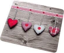 Universal Abdeckplatte Herzen, rot