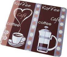 Universal Abdeckplatte Kaffeeduft, braun