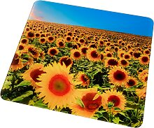 Universal Abdeckplatte Sonnenblumen (1er-Pack), gelb