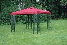 Universal Ersatzdach Metallpavillon 3x3 bordeaux extra schwere Qualität 230 g/m2 wasserabweisend