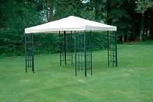 Universal Ersatzdach Metallpavillon 3x3 creme beige extra schwere Qualität 230 g/m2