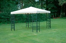 Universal Ersatzdach Metallpavillon 3x3 ecru extra schwere Qualität 230 g/m2 wasserabweisend