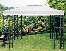 Universal Ersatzdach Metallpavillon 3x3 grau extra schwere Qualität 230 g/m2 wasserabweisend