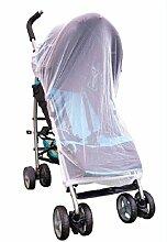 Universal Moskitonetz für Kinderwagen Reisebett Jogger Buggy Insektenschutz Weiss Fliegenschutz Mückennetz
