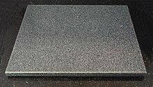 Universal Pizzastein - natürlicher Back-Grillstein aus poliertem Granit, dadurch sehr leicht zu reinigen, M 35x30x2cm