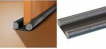 Universell Zugluftstopper (zuschneidbare Türdichtung mit 2-Seiten-Schutz) - grau luftzugstopper